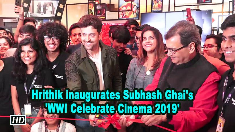 Hrithik roshan inaugurates subhash ghais wwi celebrate cinema 2019