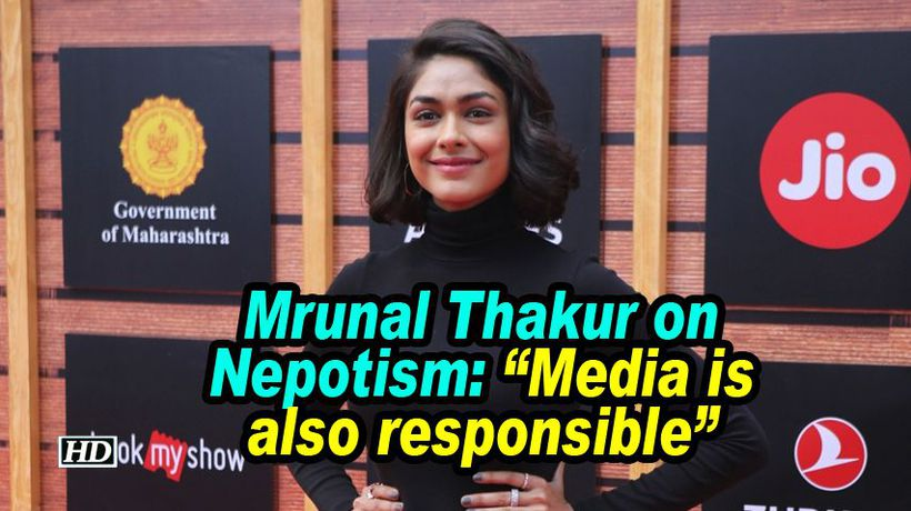 Mrunal thakur on nepotism media is also responsible