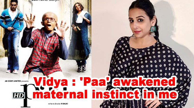 Vidya balan paa awakened maternal instinct in me