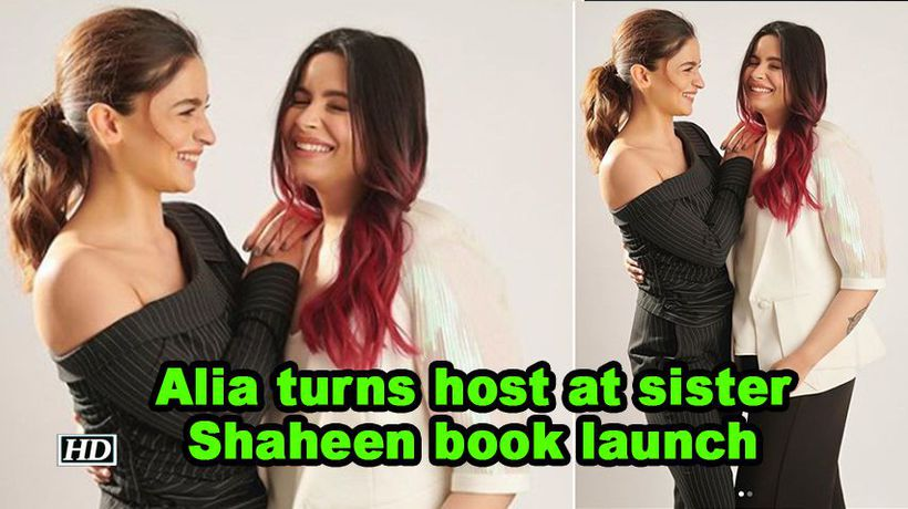 Alia turns host at sister shaheen bhatt book launch