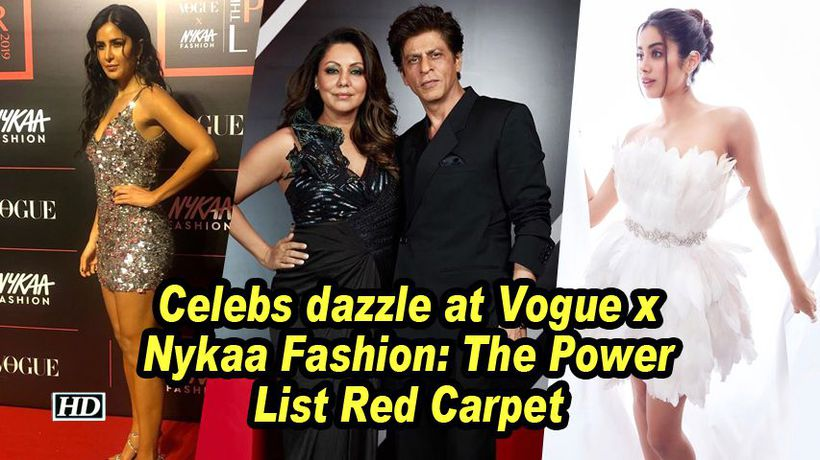 Srk katrina and jahnvi other celebs dazzle at vogue x nykaa fashion the power list red carpet