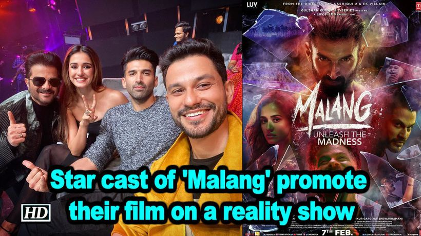 Star cast of malang promote their film on a reality show