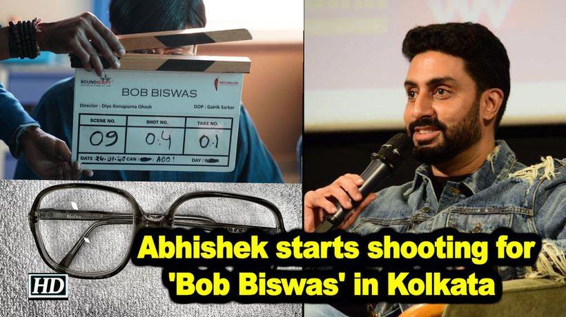 Abhishek start s shooting for bob biswas in kolkata