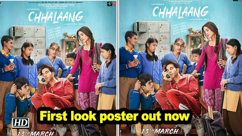 Rajkummar raonushrat bharucha starrer chhalaang first look poster out now