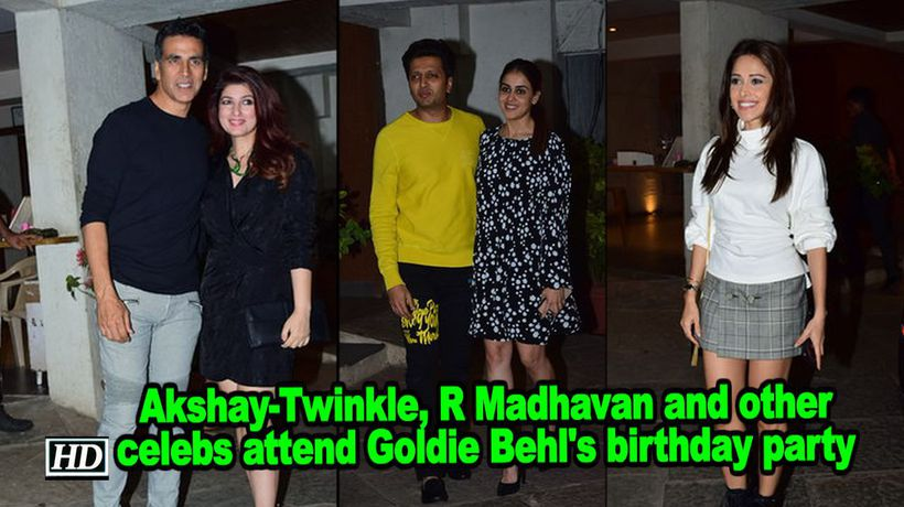 Akshay twinkle r madhavan and other celebs attend goldie behls birthday party