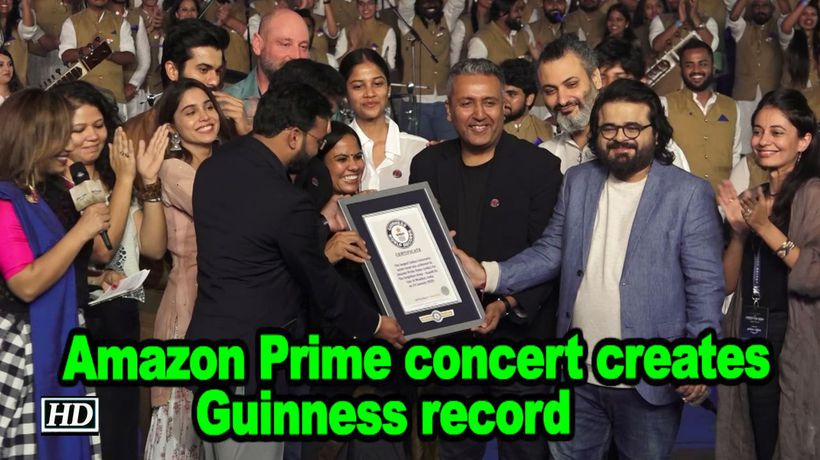 Amazon prime concert creates guinness record