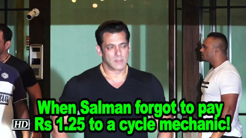 When salman forgot to pay rs 125 to a cycle mechanic