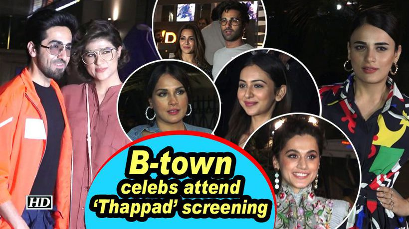 B-town celebs attend 'Thappad' screening