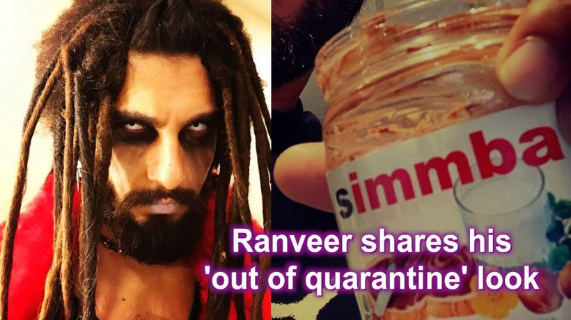 Ranveer shares his 'out of quarantine' look