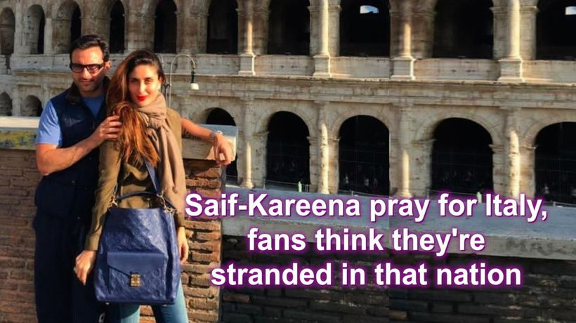 Saif Kareena pray for Italy fans think they re stranded in that nation