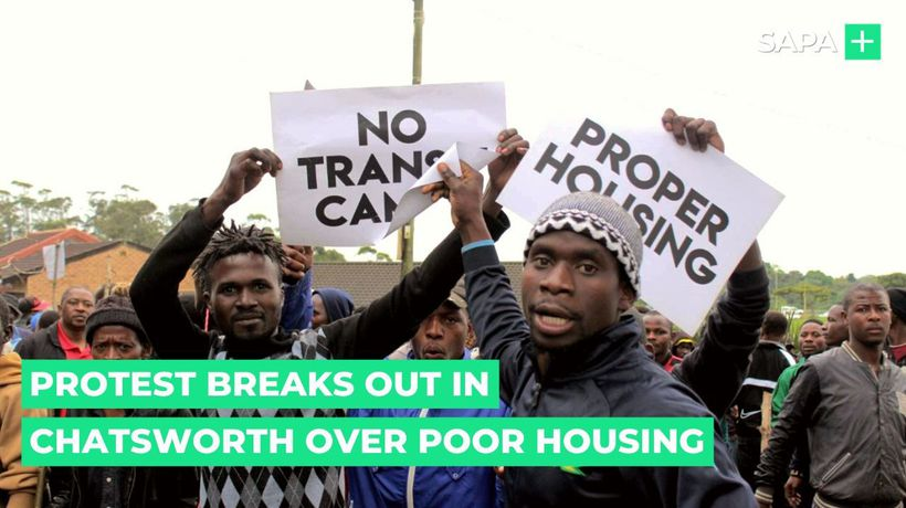 Protest breaks out in Chatsworth over poor housing