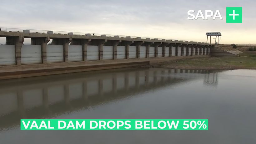 Vaal Dam water level drops below 50%