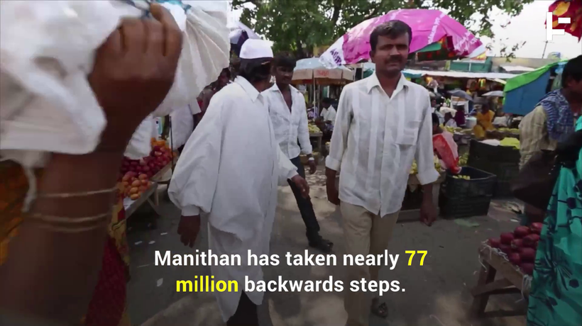 The Man Who Walks Backwards to Help Move World Peace Forwards
