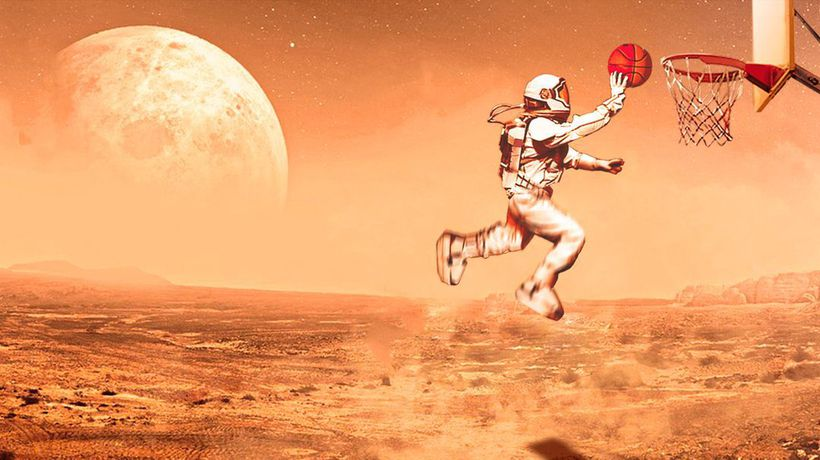 What If You Played Basketball on Mars?