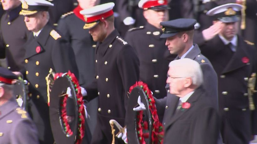 War dead remembered at Cenotaph centenary ceremony