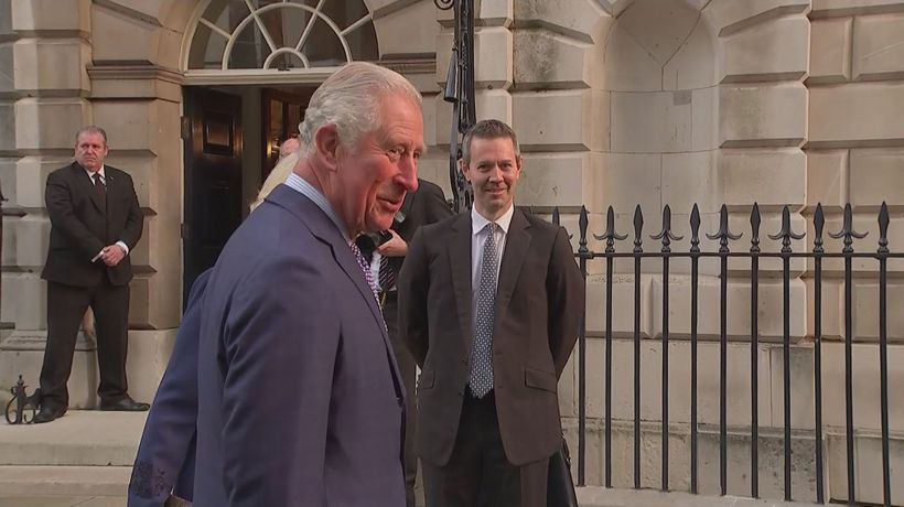 Prince Charles and Camilla arrive for birthday event