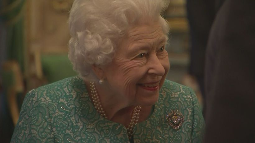 Queen beams as she hosts business leaders at Windsor