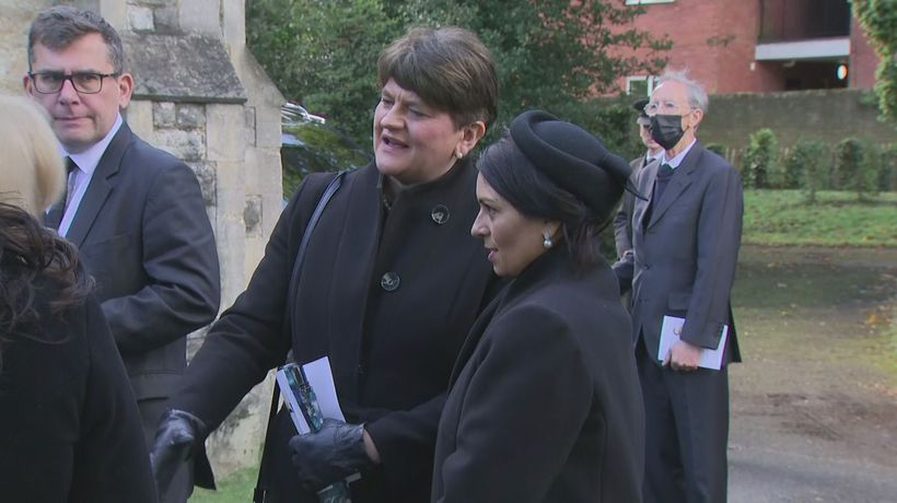 Mourners attend funeral of James Brokenshire