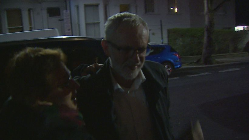 Jeremy Corbyn questioned on Labour Party split