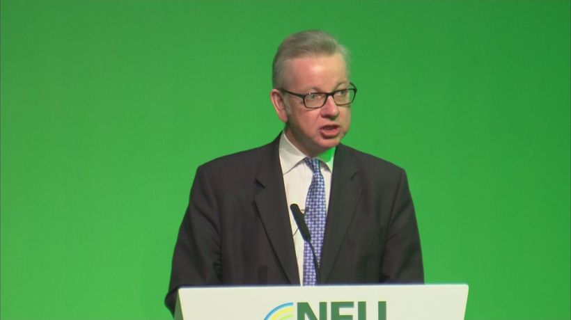 Gove warns about no deal Brexit impact to farming