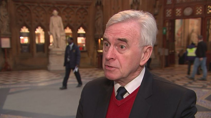 John McDonnell: Prime minister has 'lost control'