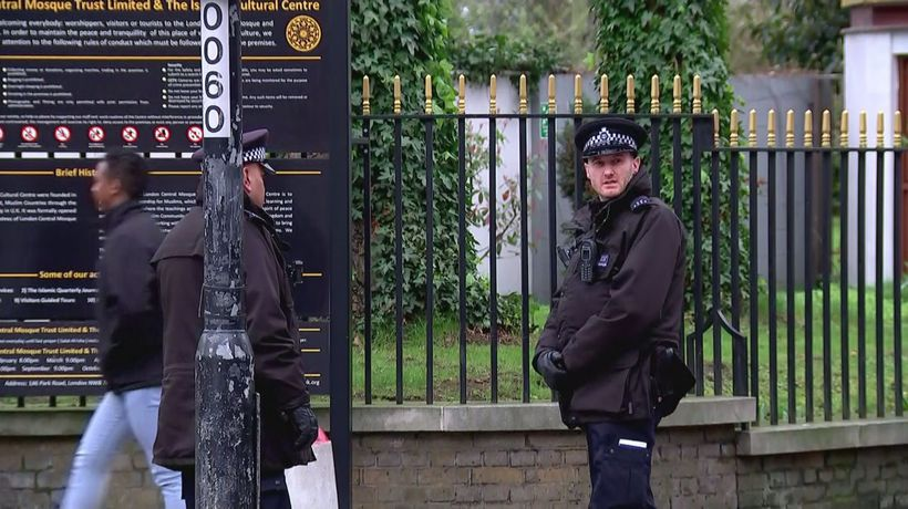 Security at London mosques following NZ attack