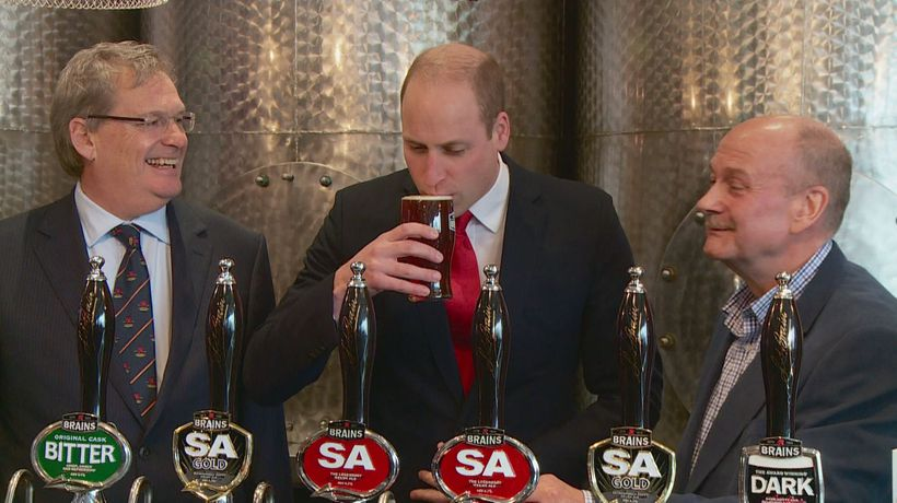 Prince William's near miss as beer cask explodes