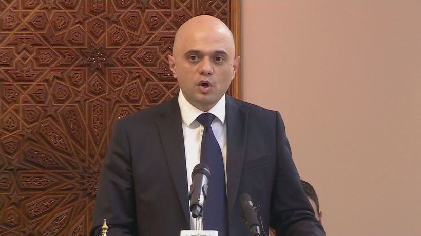 Javid speech at Central London Mosque solidarity event