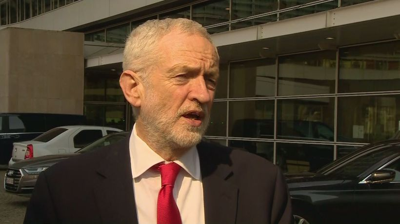 Corbyn speaks after 'constructive discussions' with Barnier