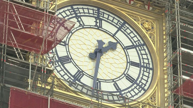 Big Ben: Famous clock face goes blue