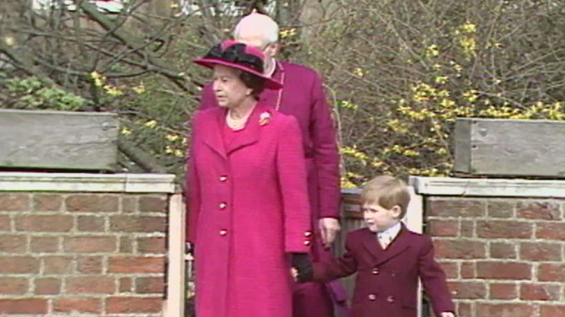 Royal Baby Countdown: Prince Harry holds hands with his gran