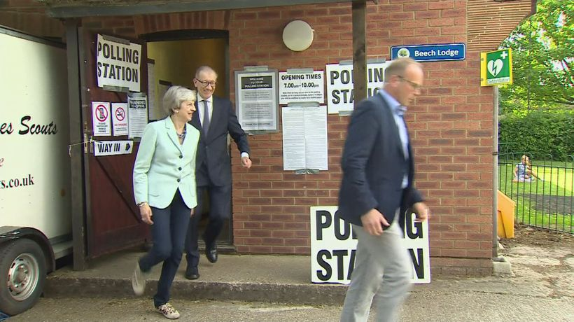 Theresa May casts vote in European election