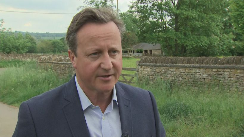 David Cameron voices sympathy for Theresa May