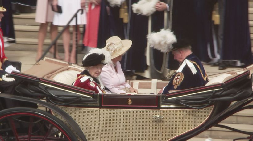 Queen hosts European royalty for Order of the Garter service