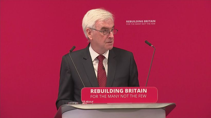 McDonnell: 'UK must have a stable and sustainable economy'