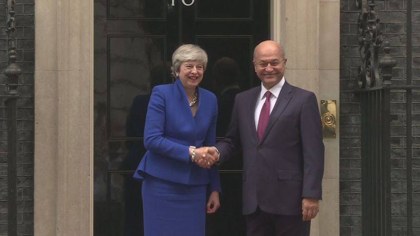 Theresa May welcomes Iraqi president