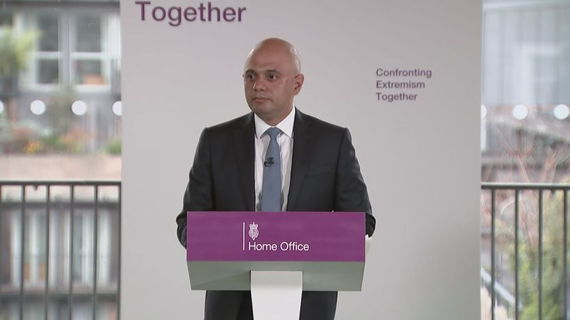 Javid urges politicians to mind language in extremism fight
