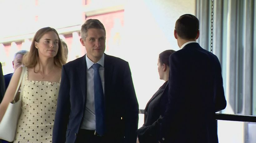 Conservative MPs arrive at the QEII Centre