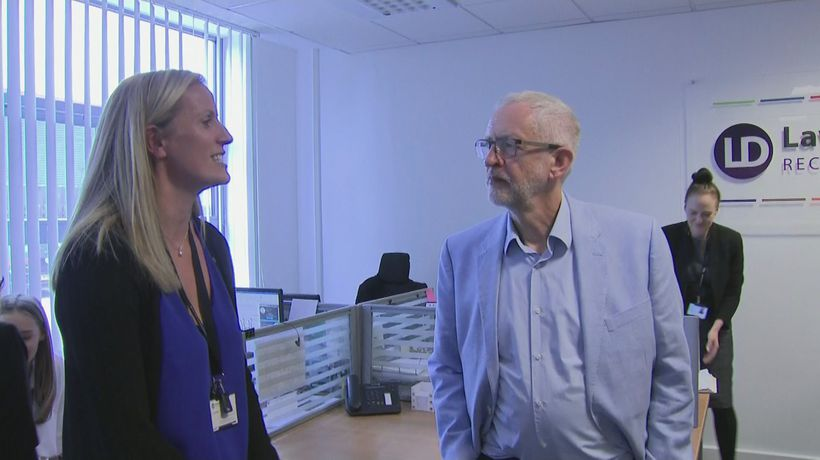 Jeremy Corbyn meets business leaders in Stevenage