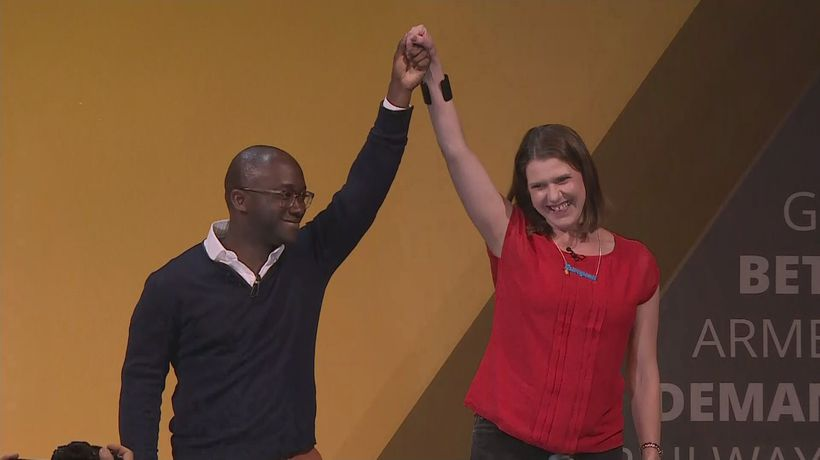 Gyimah welcomed to Lib Dem stage after defecting from Tories