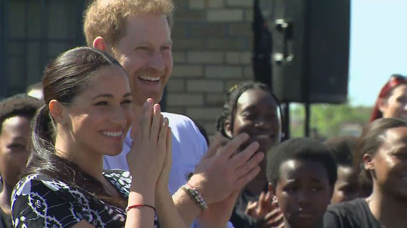 Duke and Duchess of Sussex arrive in South Africa
