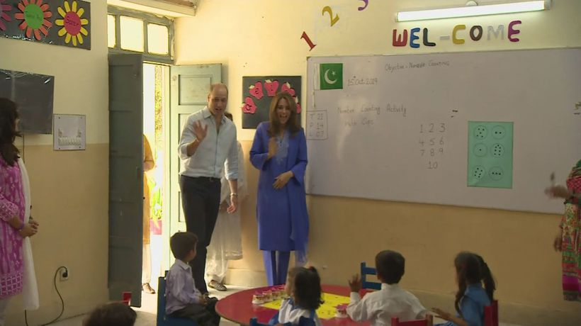 Duke and Duchess of Cambridge visit school in Islamabad