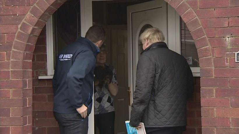 Boris Johnson knocks on doors in Mansfield