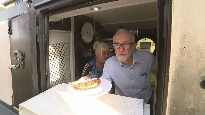 Jeremy Corbyn makes oatcakes in Stoke