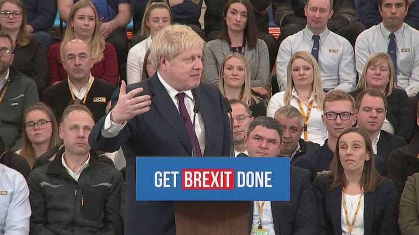 Johnson blasts Corbyn during a campaign speech