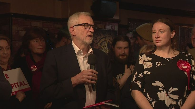 Corbyn speaks to supporters in Carlisle