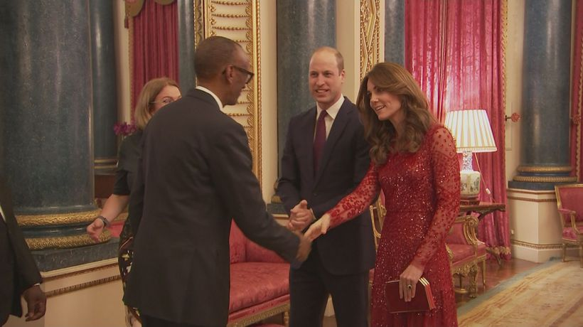 William and Kate host palace reception for African leaders