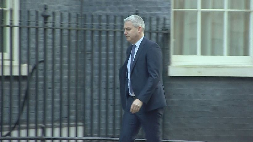 Ministers arriving in Downing Street for Cabinet