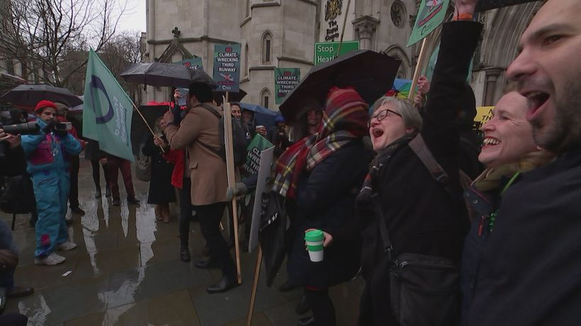 Reactions outside court as Heathrow lose third runway ruling