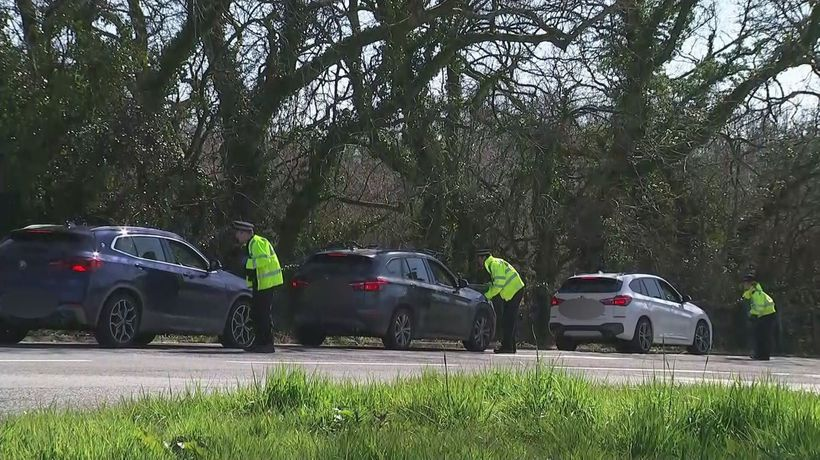 Police stop motorists in Wales